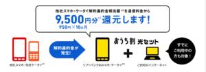 ②スマホ違約金 還元キャンペーン 950円割引