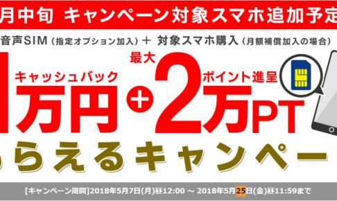 1万円 + 最大2万PTもらえるキャンペーン