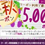 最大5,000PT!☆クーポン17種!