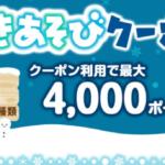 <ゆきあそびクーポン>最大4,000PT!☆クーポン10種!